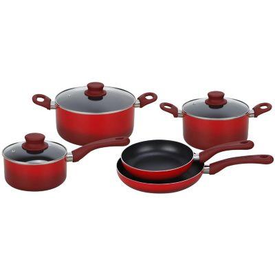 Batería de cocina 8 piezas rojo