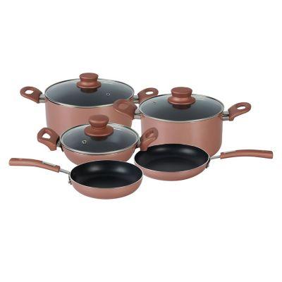 Batería de cocina 8 piezas rosa