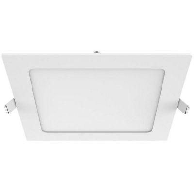 Panel LED empotrable cuadrado 18 w luz fría