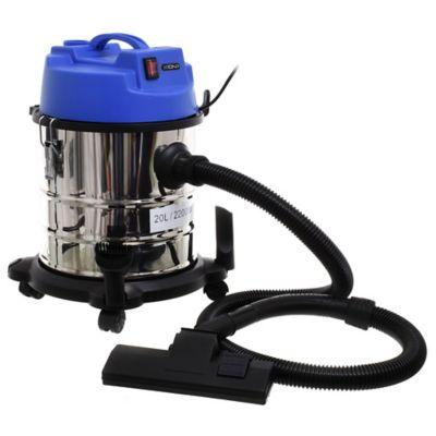 Aspiradora seco y húmedo plateada y azul 2200 w