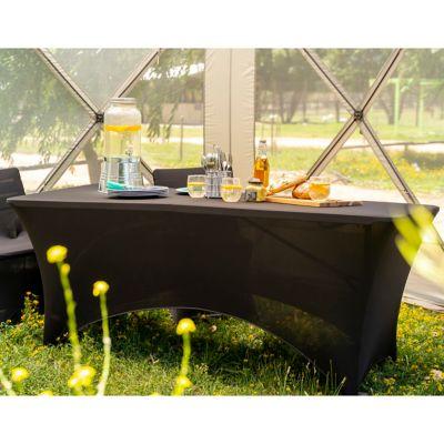 Funda para mesa rectangular 180 x 75 x 74 cm negro
