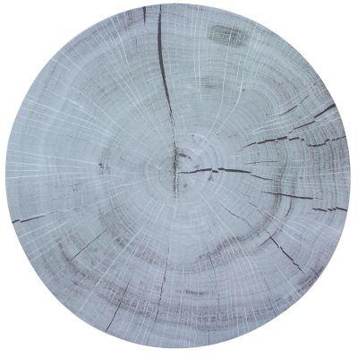 Individual redondo Round 38 cm madera gris