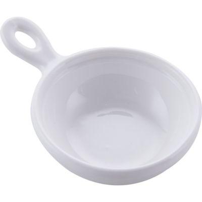 Bowl redondo con asa blanco 7.2 x 10.3 x 2 cm