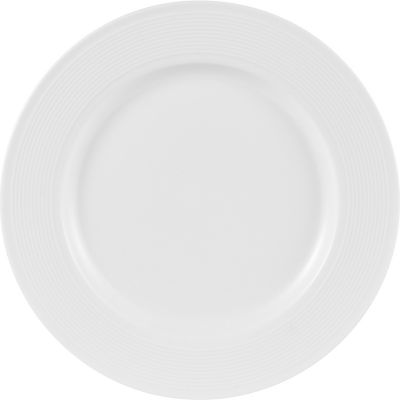 Plato redondo blanco 26 x 26 cm