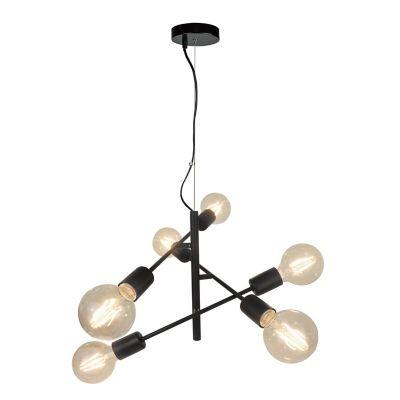 Lámpara colgante bastones cruzados negra