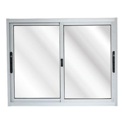 Ventana de aluminio corrediza blanca 120 x 60 cm