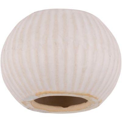 Portavela vata blanco 12 x 9 cm