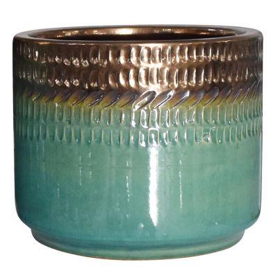 Maceta Nihi verde jade 19 x 18 cm