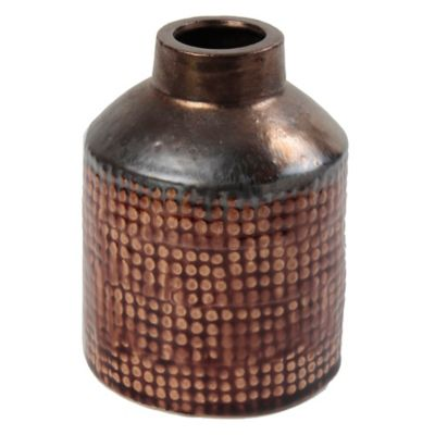 Botella Kura tabaco/dorado 11 x 15 cm