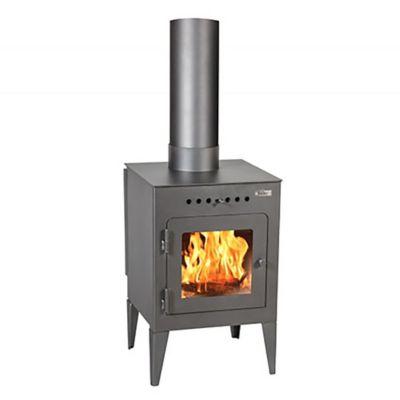 Calefactor a leña Eco Puelo 8500 KCAL gris