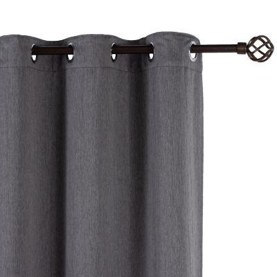 Pack de 2 cortinas de tela 145 x 250 cm gris