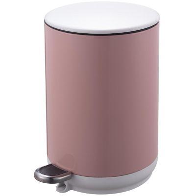 Basurero 5 L de metal rosa con pedal