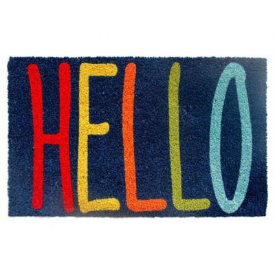 Felpudo Hello multicolor 45 x 75 cm