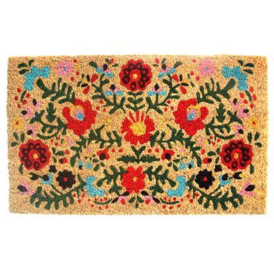 Felpudo Flores multicolor 45 x 75 cm