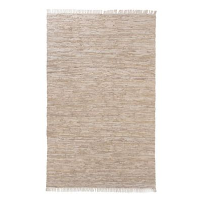 Alfombra Goose cuero 160 x 230 cm beige