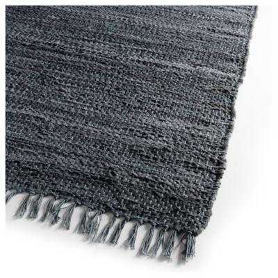 Alfombra Goose cuero 160 x 230 cm azul oscuro
