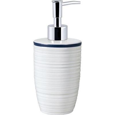 Dispensador de jabón Hexton blanco y azul