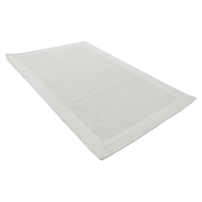 Alfombra de baño Frame 50 x 80 cm blanca