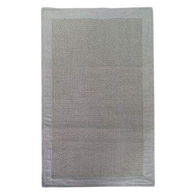 Alfombra de baño Frame 50 x 80 cm gris y blanco