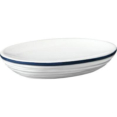 Jabonera Hexton blanco y azul