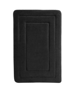 Pack de 2 alfombras de baño Race 40 x 60 cm negro