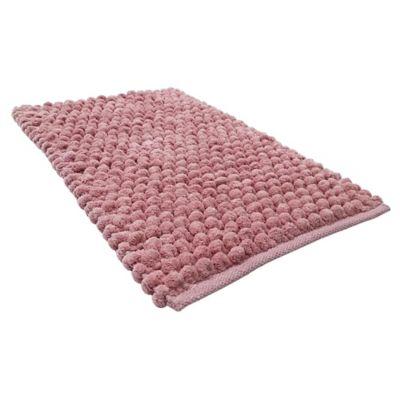 Alfombra de baño Cubes 40 x 60 cm rosado