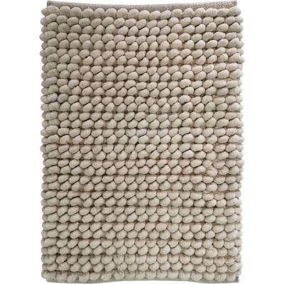 Alfombra de baño Cubes 40 x 60 cm beige