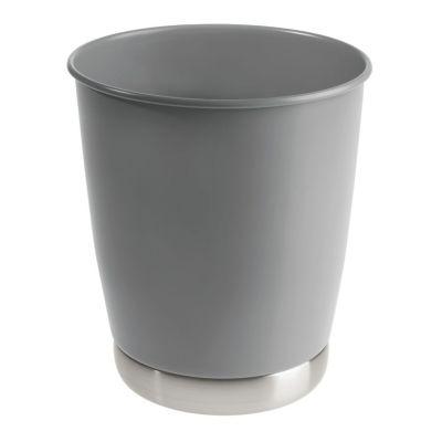 Papelero York de metal gris
