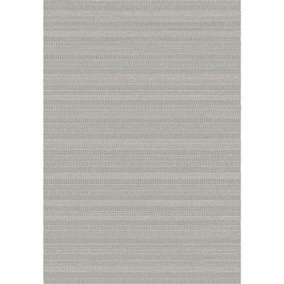 Alfombra Contour rayas 120 x 170 cm gris