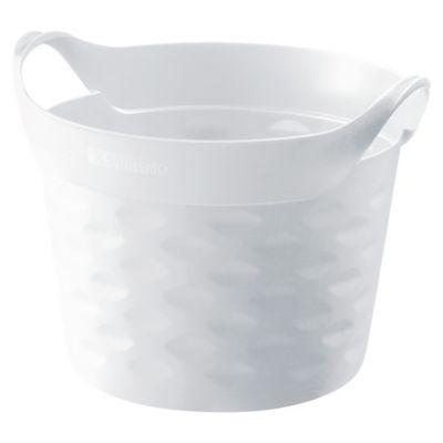 Canasto organizador de plástico flexible redondo blanco 3 L