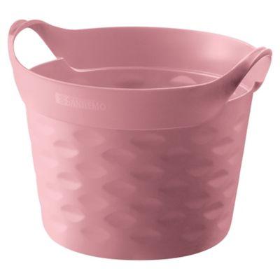 Canasto organizador de plástico rosa 3 L