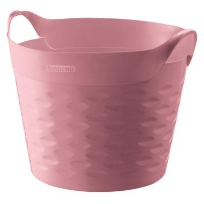 Canasto organizador de plástico rosa 20 L