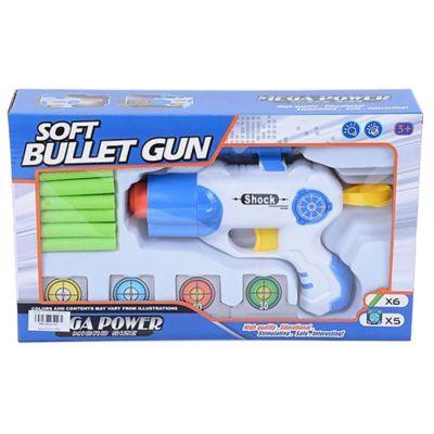 Pistola de goma eva con dardos