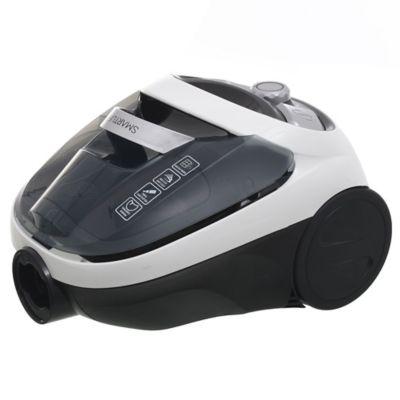 Aspiradora blanca y negra 1200 w