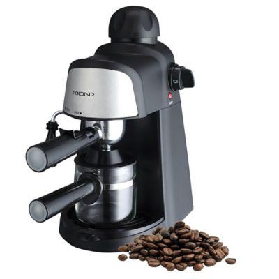 Cafetera Expresso Capuccino 800 w plateada y negra