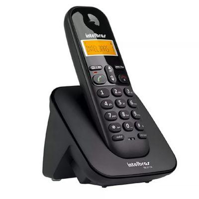 Teléfono inalámbrico digital con identificador negro