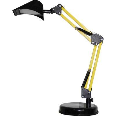 Lámpara de escritorio LED integrado Grua negra y amarilla 4 w