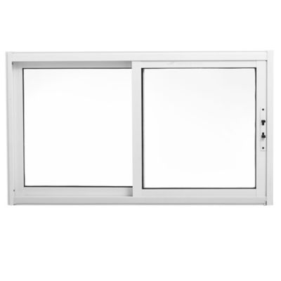 Ventana de aluminio guillotina blanca 60 x 100 cm
