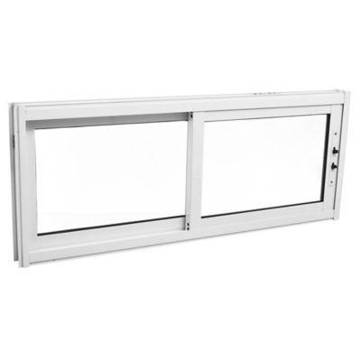 Ventana de aluminio guillotina blanca 40 x 100 cm