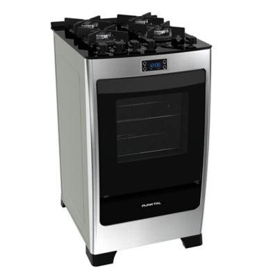 Cocina a gas Encanto PK-735 53 cm 4 hornallas acero y negro