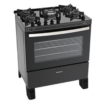 Cocina a gas Glass 5 PK-GL5B 60,5 cm 5 hornallas acero y negro