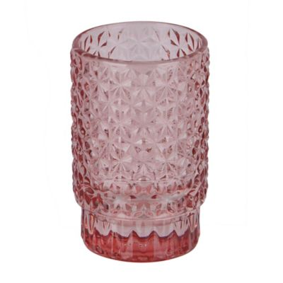 Portavela vaso Tex rosa 9 cm