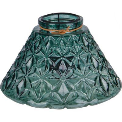 Portavela vaso Tex verde 16 cm