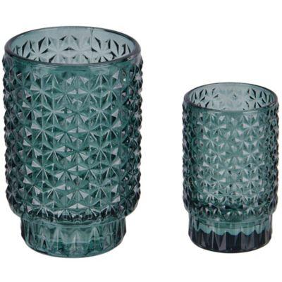 Portavela vaso Tex verde 9 cm
