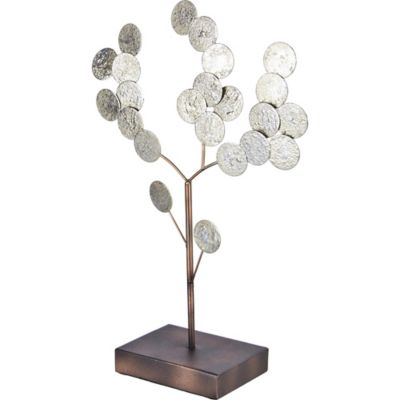 Figura Deco arbol silver 41 cm