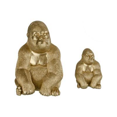 Figura Deco gorila gold 22 cm