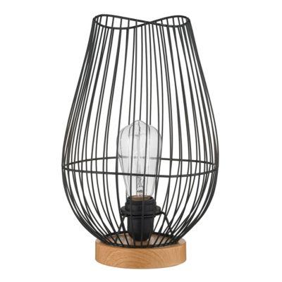 Lámpara de mesa Vax negro 1 luz E27
