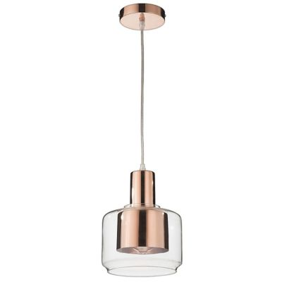 Lámpara colgante Gothen cobre 1 luz E27