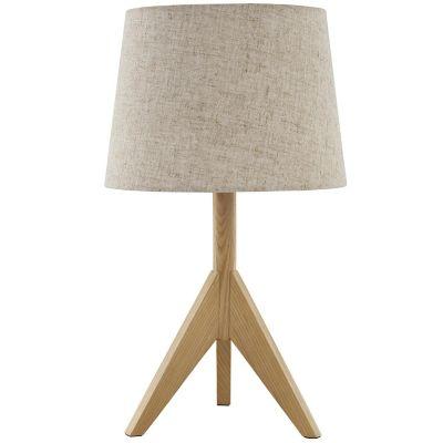 Lámpara de mesa Ribe natural 1 luz E27
