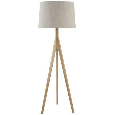 Lámpara de pie Ribe natural 1 luz E27